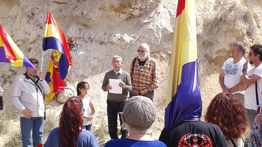 Francisco 'Quico' Martínez-López en el homenaje a los asesinados por el franquismo en El Barranco de Aigues