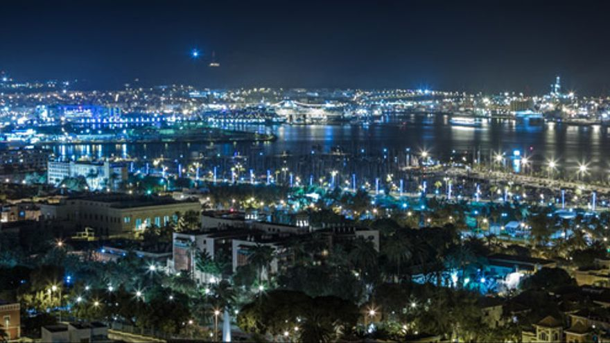 Imagen de Las Palmas de Gran Canaria de noche
