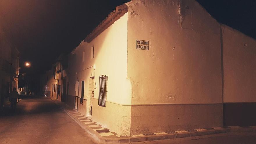 Calle Antonio Machado en Marinaleda