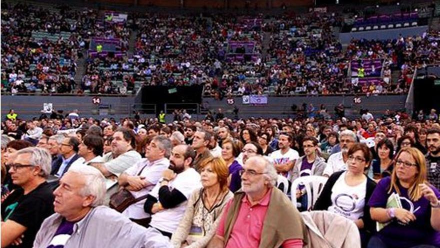 Asistentes en una asamblea de Podemos. (eldiario.es)