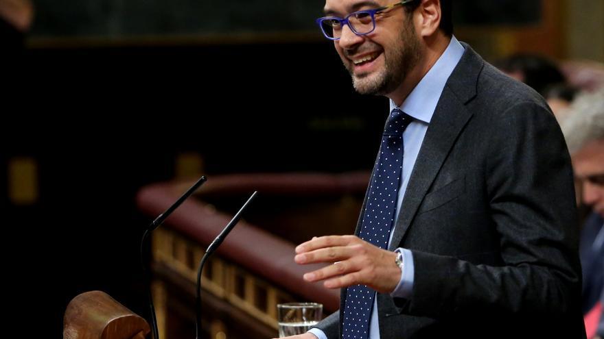Antonio Hernando, durante su discurso en el segundo debate de investidura en el Congreso de los Diputados