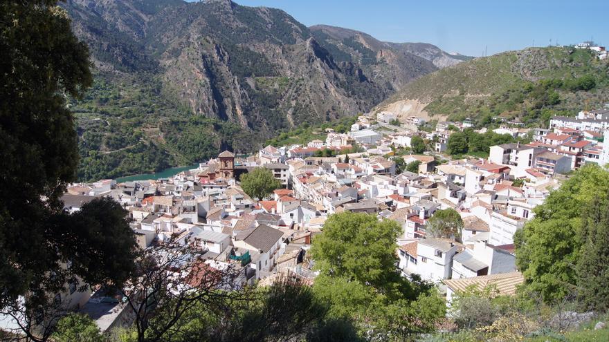 Vista panorámica de Güéjar Sierra, en la provincia de Granada.