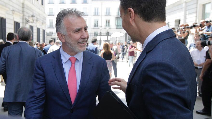 El presidente de Canarias, Ángel Víctor Torres, en el Congreso de los Diputados