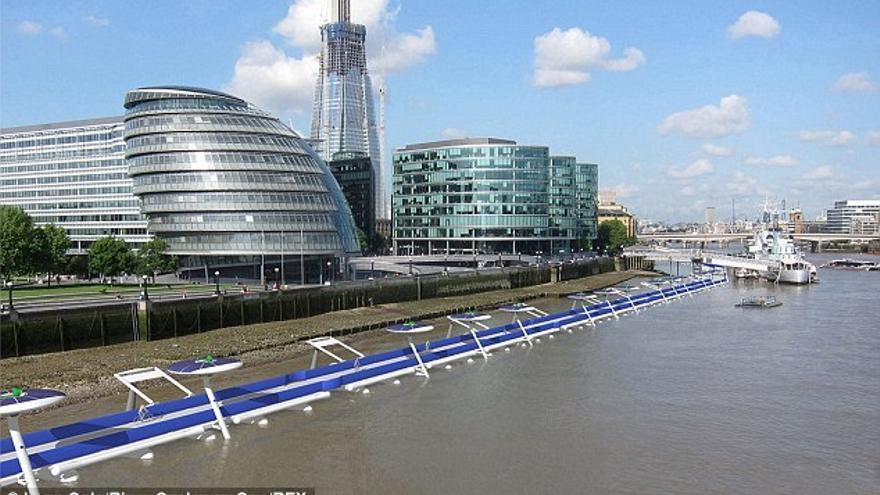Proyecto de vía ciclista flotante para Londres