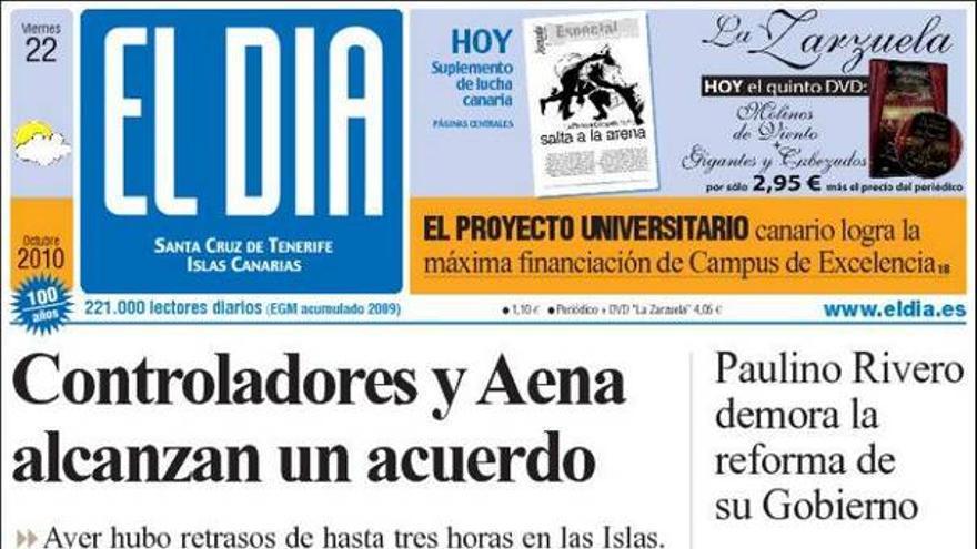 De las portadas del día (22/10/2010) #3