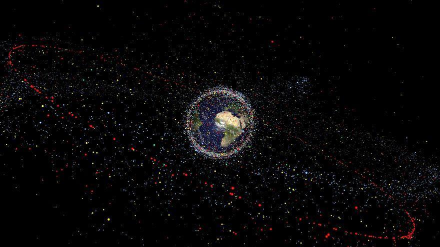 Distribución de la basura espacial / ESA