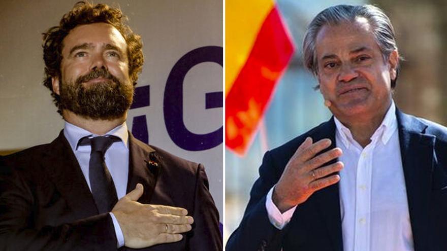 Ivan Espinosa de Los Monteros (Vox) y Marcos de Quinto (C's)