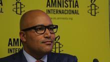 Vincent Ward, abogado de Chelsea Manning, la presentación del informe anual de Amnistía Internacional.