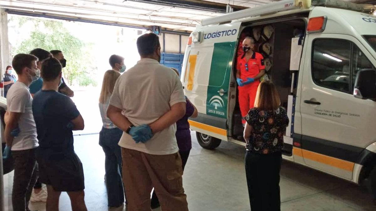 Futuros técnicos de emergencias sanitarias conocen el funcionamiento de EPES 061 en Córdoba.