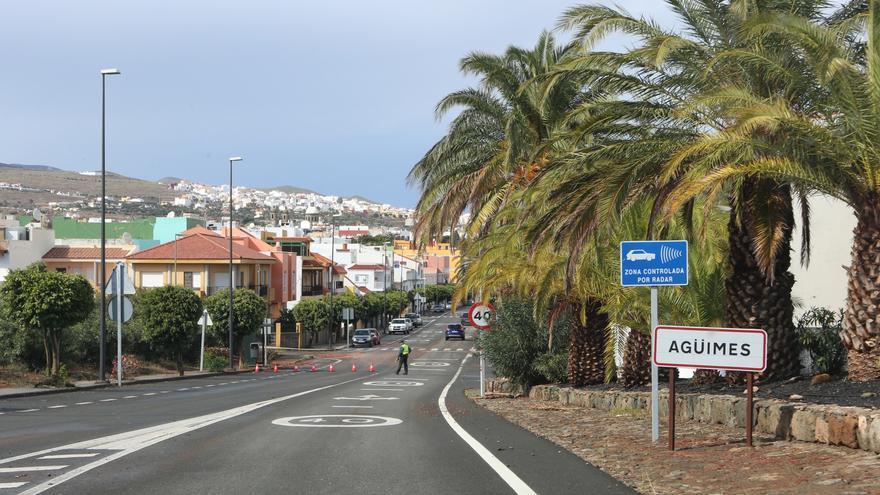 Corte de carretera este sábado en Agüimes por el temporal