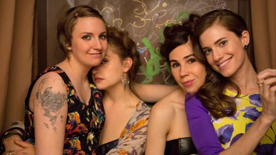 Lena Dunham, Jemima Kirke, Zosia Mamet y Allison Williams