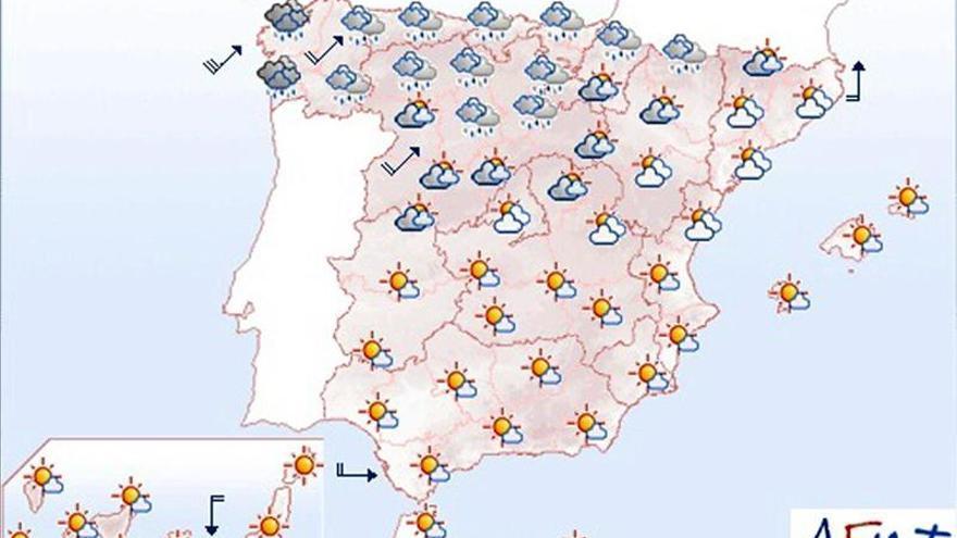 La Aemet anuncia lluvias persistentes en el oeste gallego para mañana sábado