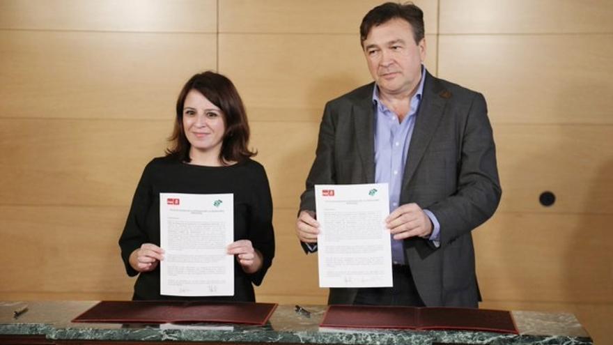 Teruel Existe arranca al PSOE el compromiso de paralizar el cierre de taquillas de Renfe en estaciones de poca afluencia