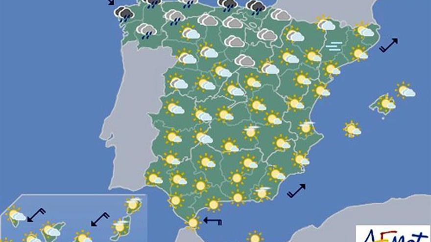 La inestabilidad afectará hoy a la mitad norte, con nieve en cotas altas