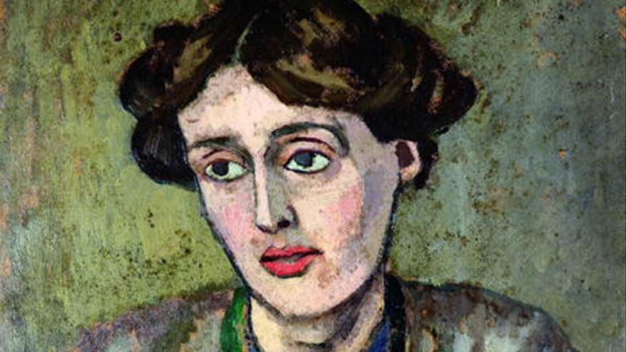 Virginia Woolf retratada por el pintor Roger Fry