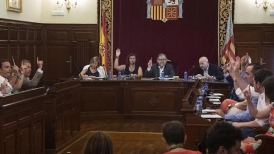 Pleno de la Diputación de Castellón.