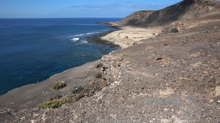 Vistas de El Confital desde la zona donde estará el mirador de La Isleta