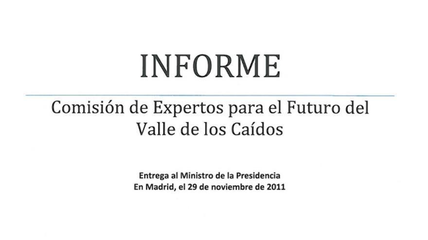 Portada del Informe de la Comisión de Expertos.