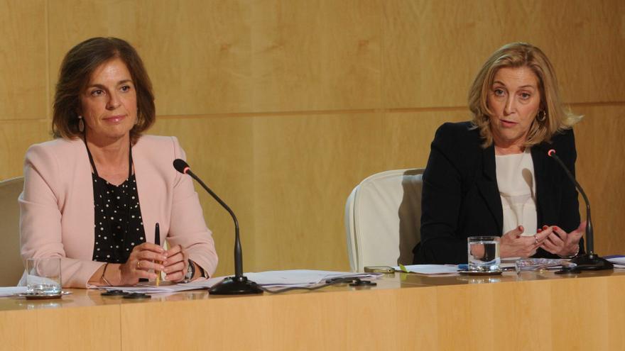 La ex alcaldesa Ana Botella con su concejal de Hacienda, Concepción Dancausa.