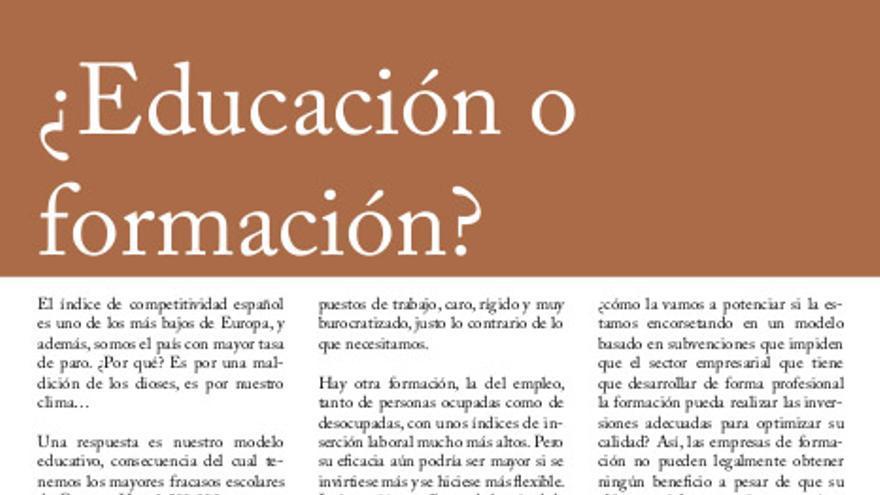Artículo de Gerardo Crespo en la revista de CAYPE, publicado en 2011