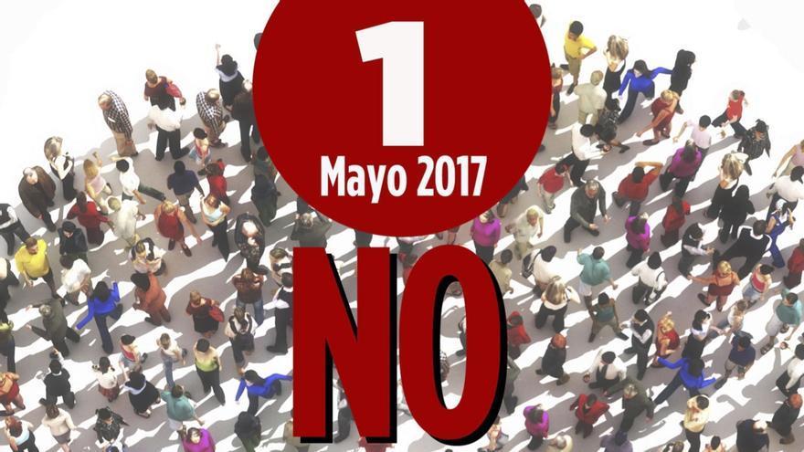 Cartel de la concentración del 1º de Mayo.