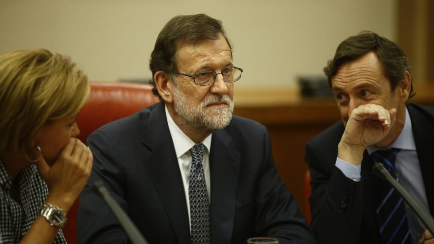 """Rajoy ataca a Sánchez por anteponer las siglas del PSOE a España: """"Me temo que están en esperar a ver qué pasa el 25S"""""""
