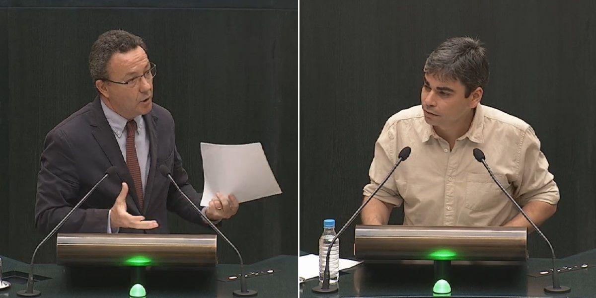Íñigo Henríquez de Luna (izda) y Jorge García Castado (dcha), durante el debate de terrazas