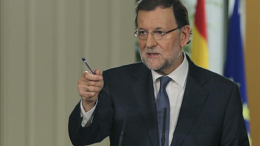 Mariano Rajoy durante la rueda de prensa de balance de legislatura