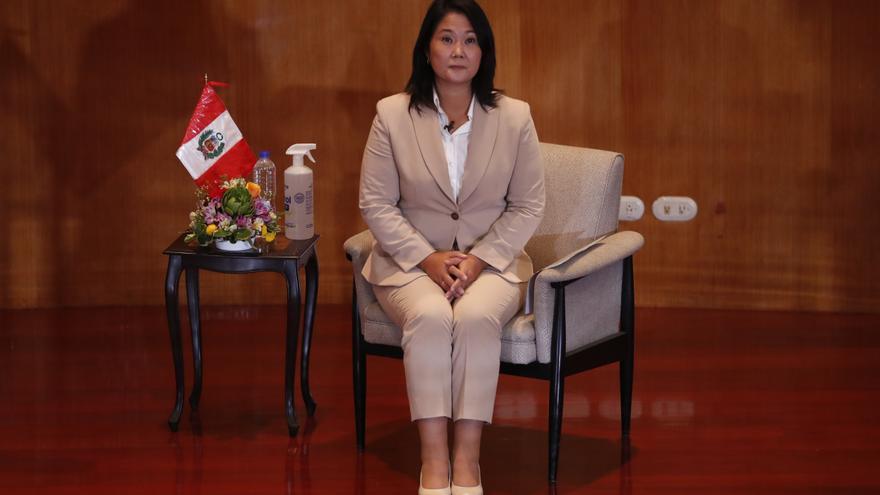 En la imagen, la candidata presidencial Keiko Fujimori. EFE/ Paolo Aguilar/Archivo