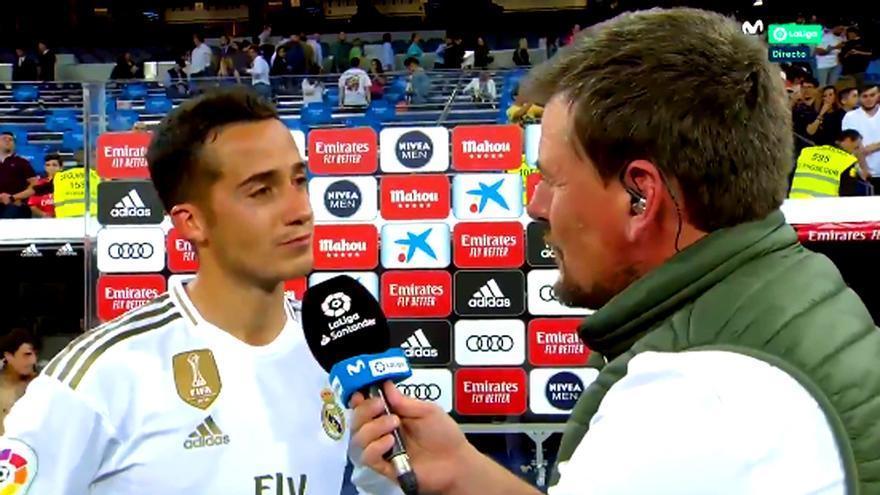 Lucas Vázquez y Ricardo Sierra, en un momento de la entrevista