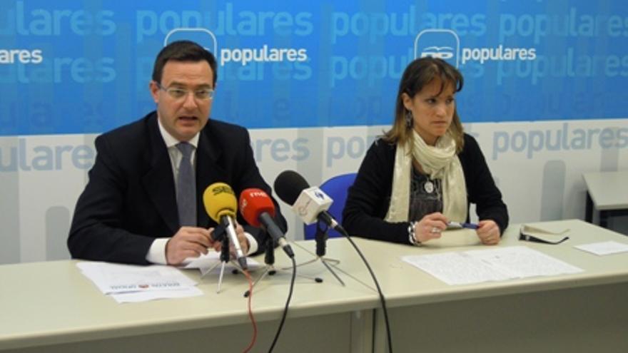 Carlos Muñoz, en una rueda de prensa / PP de Aragón