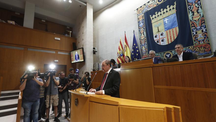 Javier Lambán ha pronunciado este martes su discurso de investidura