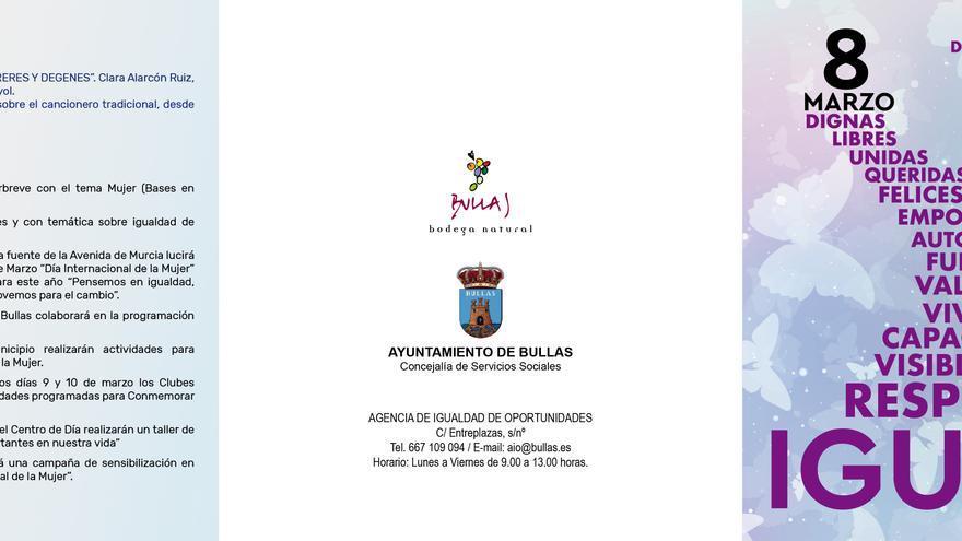 Bullas presenta la programación para el Día Internacional de la Mujer