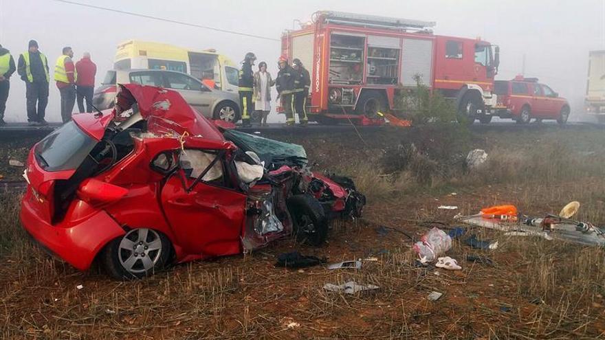 Un muerto y un herido grave en un choque frontal en La Almunia (Zaragoza)