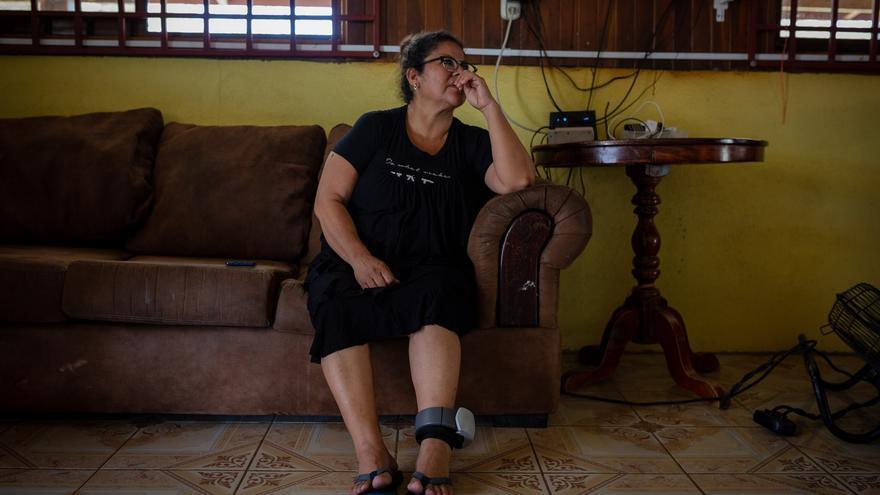 López Martínez, 'Mamá África', en su casa en la provincia de Guanacaste.