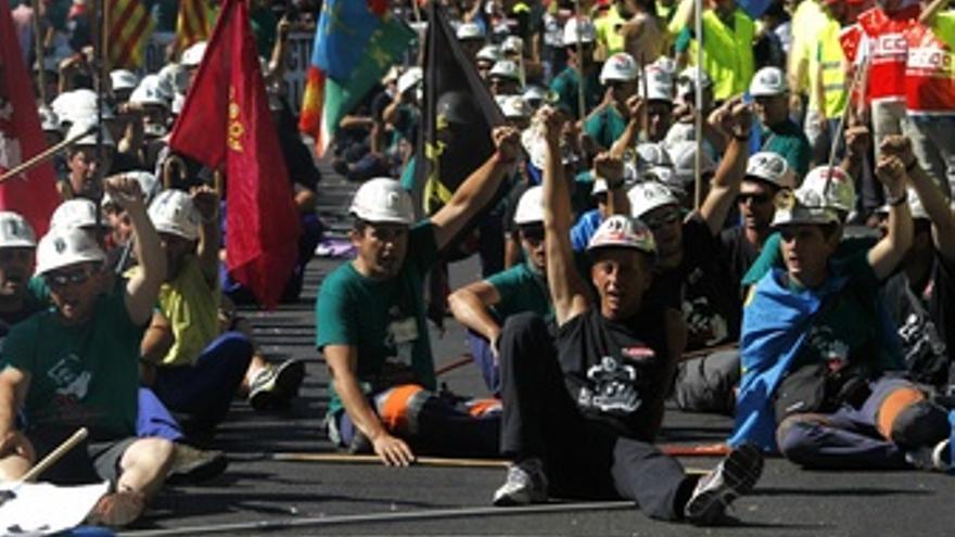 Marcha de los mineros en Madrid
