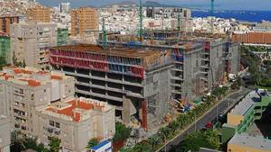 Estado de las obras del edificio que albergará la sede judicial de Las Palmas de Gran Canaria.