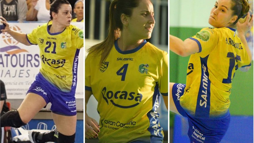 María González, Melania Falcón y Haridian Rodríguez volverán a ser importantes en el Rocasa