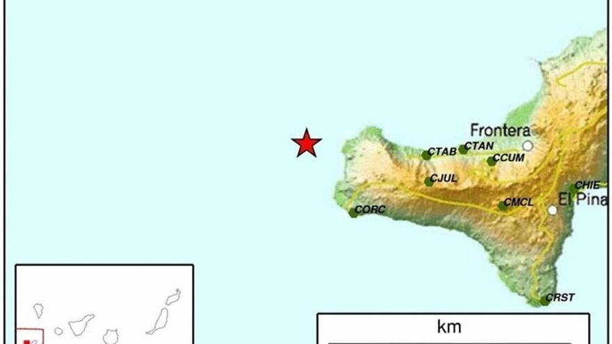 Temblor de magnitud 3.1 en El Hierro.