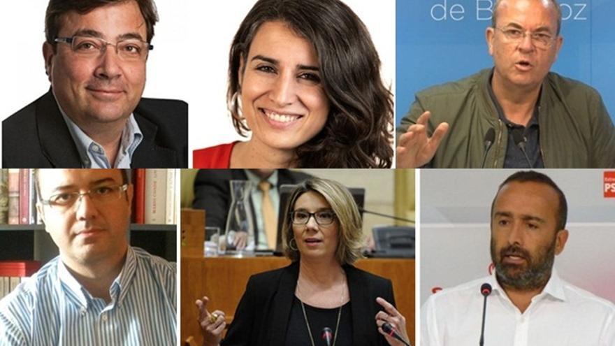 Algunos de los diputados electos que formarán parte de la Asamblea de Extremadura