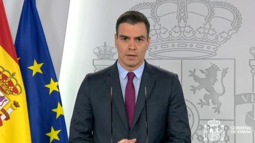 Pedro Sánchez, en una de sus comparecencias por la crisis sanitaria.