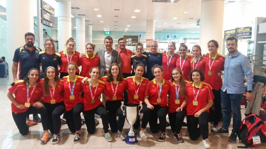 Equipo nacional femenino campeón de Europa cadete 2019