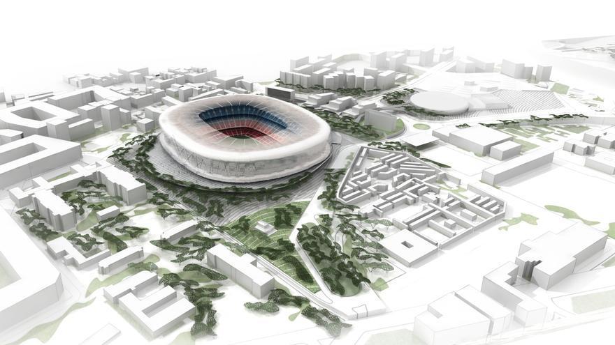 Vista exterior del futur Camp Nou / FCB