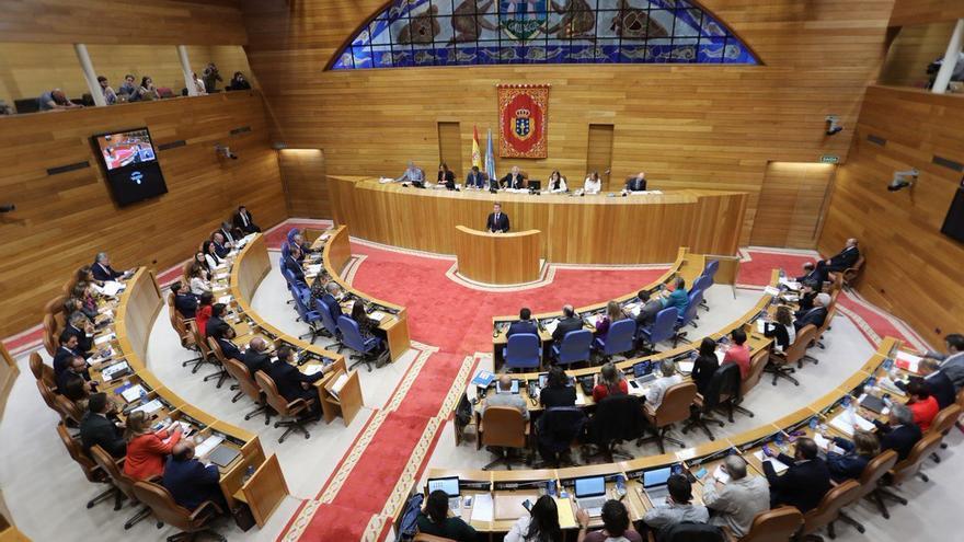 Una sesión del pleno del Parlamento gallego