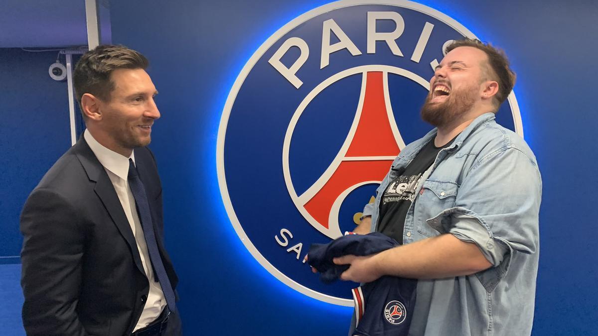 Messi con Ibai Llanos en el PSG