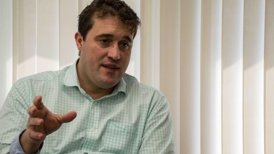 David Bonvehí, fotografiado en su despacho, en la sede del PDeCAT.