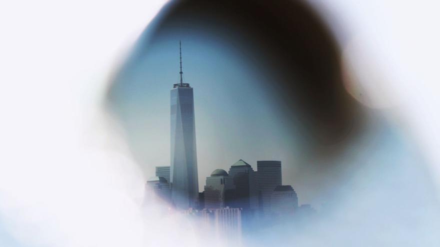Nueva York visto desde la estatua de la libertad