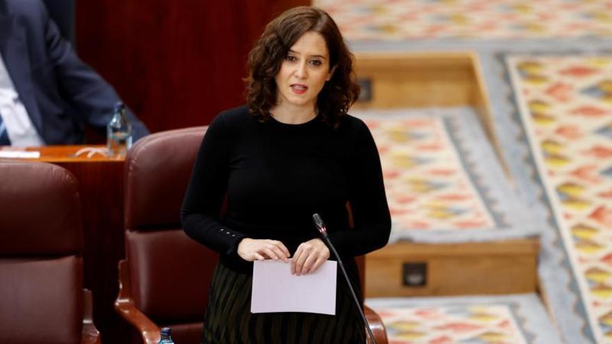 La presidenta Díaz Ayuso en la Asamblea de Masdrid