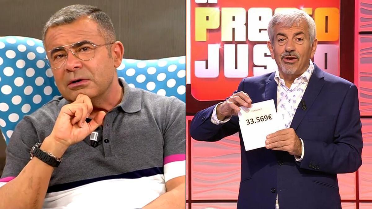 Imagen de Jorge Javier Vázquez en 'Sálvame Tomate' y Carlos Sobera en 'El precio justo'