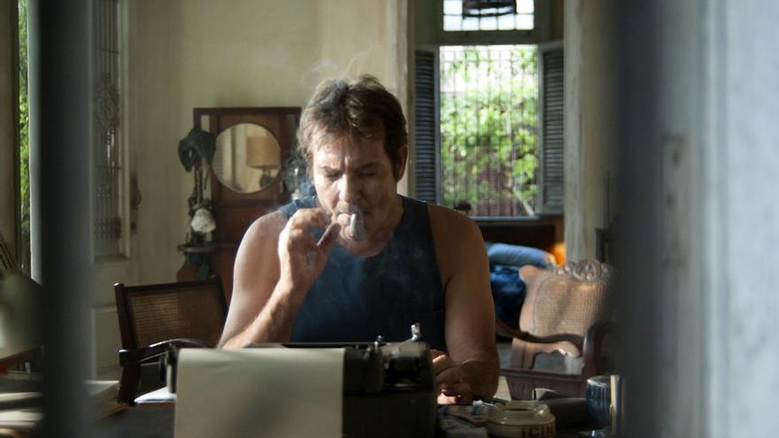 El actor Jorge Perugorría durante el rodaje en La Habana / Foto cedida